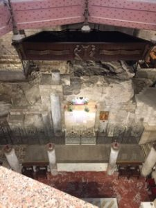 Ruins of the home of the Blessed Virgin. Church of the Annunciation, Nazareth